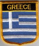 Greece Embroidered Flag Patch, style 07.